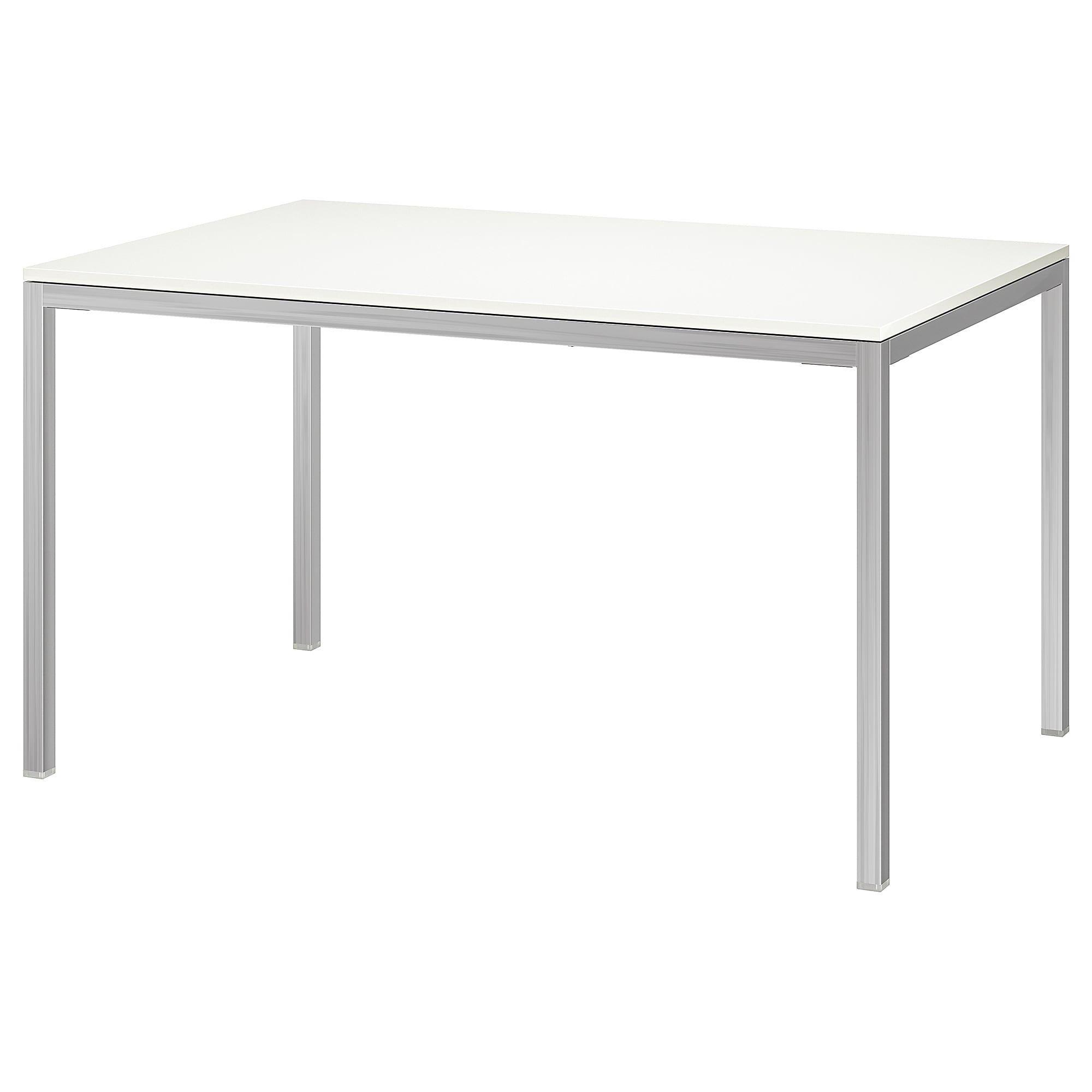 Torsby Table Chrome Plated High Gloss White 53 1 8x33 1 2 Ikea Glass Coffee Table Ikea Dining Table Ikea Table
