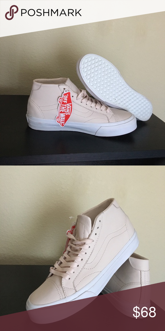 7b8ad4b401 Vans Light Pink Leather Shoes Court Mid DX New with box Vans Shoes Sneakers