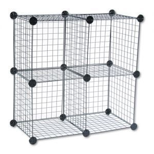 Wire Cube Shelves Safco Shelving System 15w X 15d 15h Black Wirecube