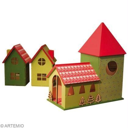 fabriquer un village de no l miniature id es conseils et. Black Bedroom Furniture Sets. Home Design Ideas
