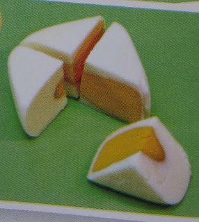 Square boiled egg, funny!