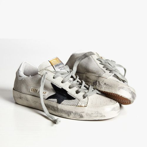 Golden Goose Mens Slide Hi-top Sneakers in White - Cheap Golden Goose Outlet Sale