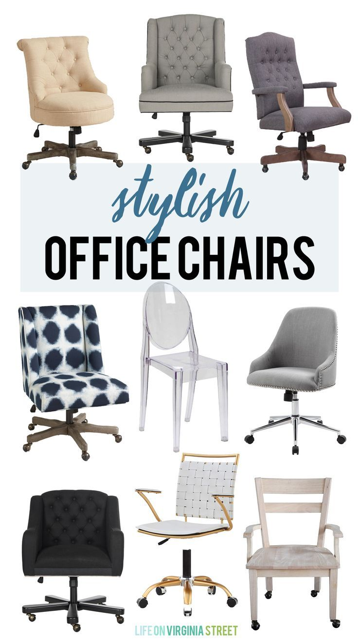 Stylish Office Chairs Home office chairs, Farmhouse