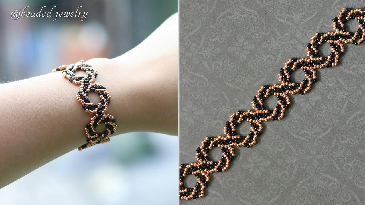 Diy whirlpool bracelet easy to make beaded bracelet with