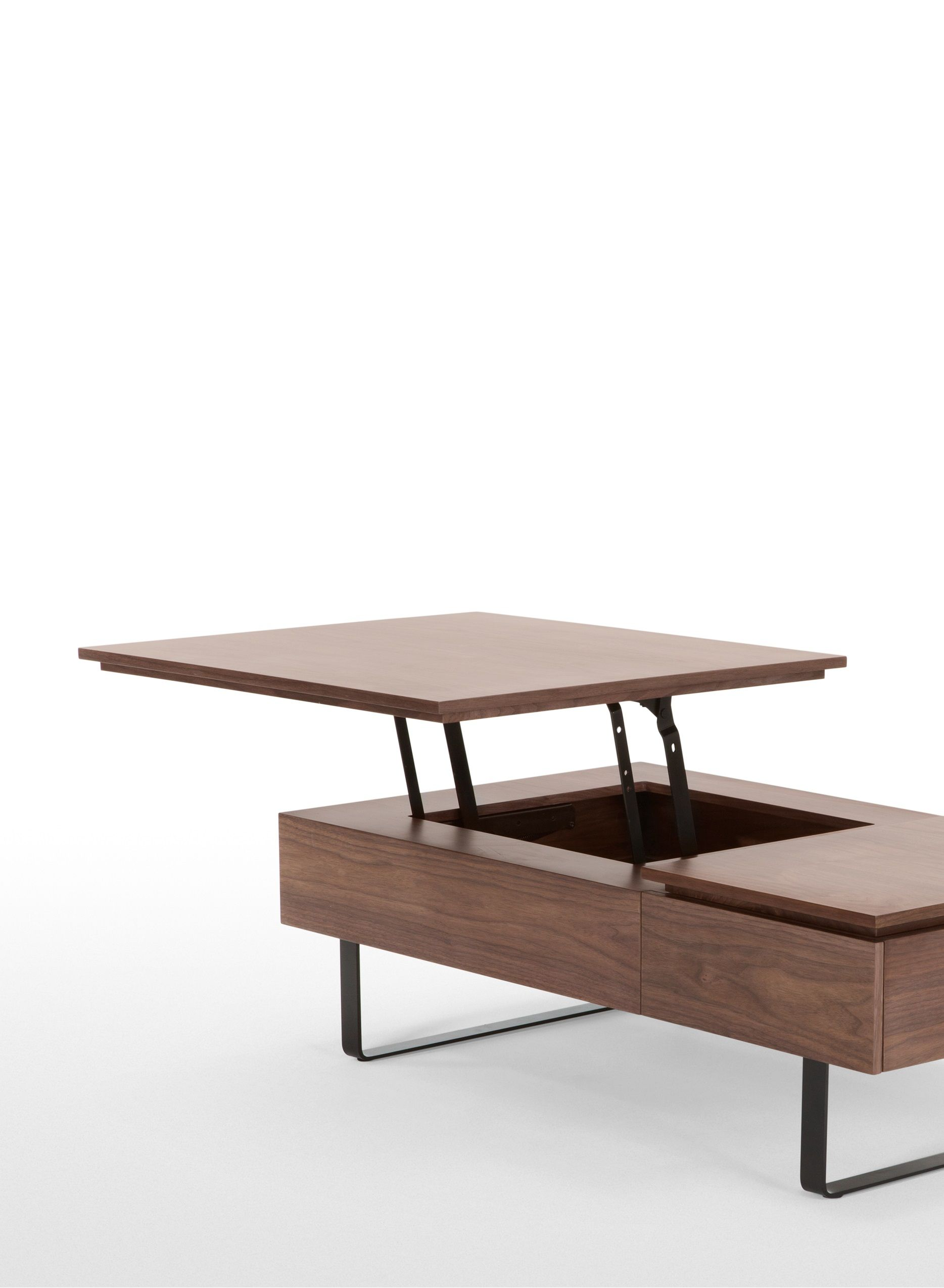 Flippa functional coffee table with storage walnut small spaces flippa functional coffee table with storage walnut geotapseo Choice Image