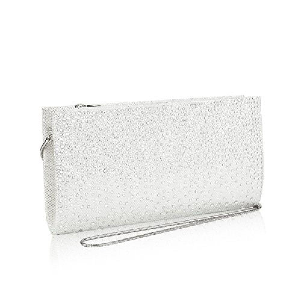 26d050429 GGBAZZARA Women Rhinestone Frosted Evening Clutch Bag Formal Party Clutches  Wedding Purses (silver) Dazz24