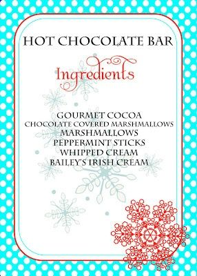 hot chocolate bar...other adult possible options to add: peppermint schnapps, ... - #springCoctailRecipesmarthastewart #springCoctailRecipesparties #springCoctailRecipessummer #hotchocolatebar