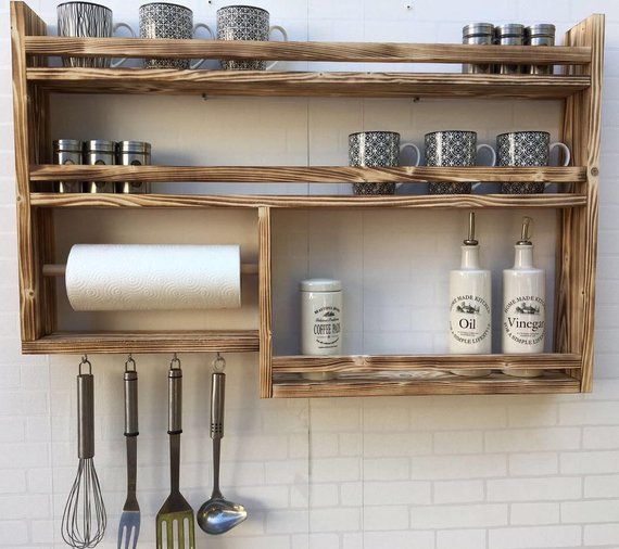 Spice Shelf 7 Made Of Recycled Old Wood Upcycling In 2018