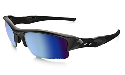 b2823a6b50bee Oakley makes sure you ll conquer with the Sport Flak Jacket XLJ Polished  Black Sunglasses. The Prizm Deep Water Polarized lenses will fine-tune your  view to ...
