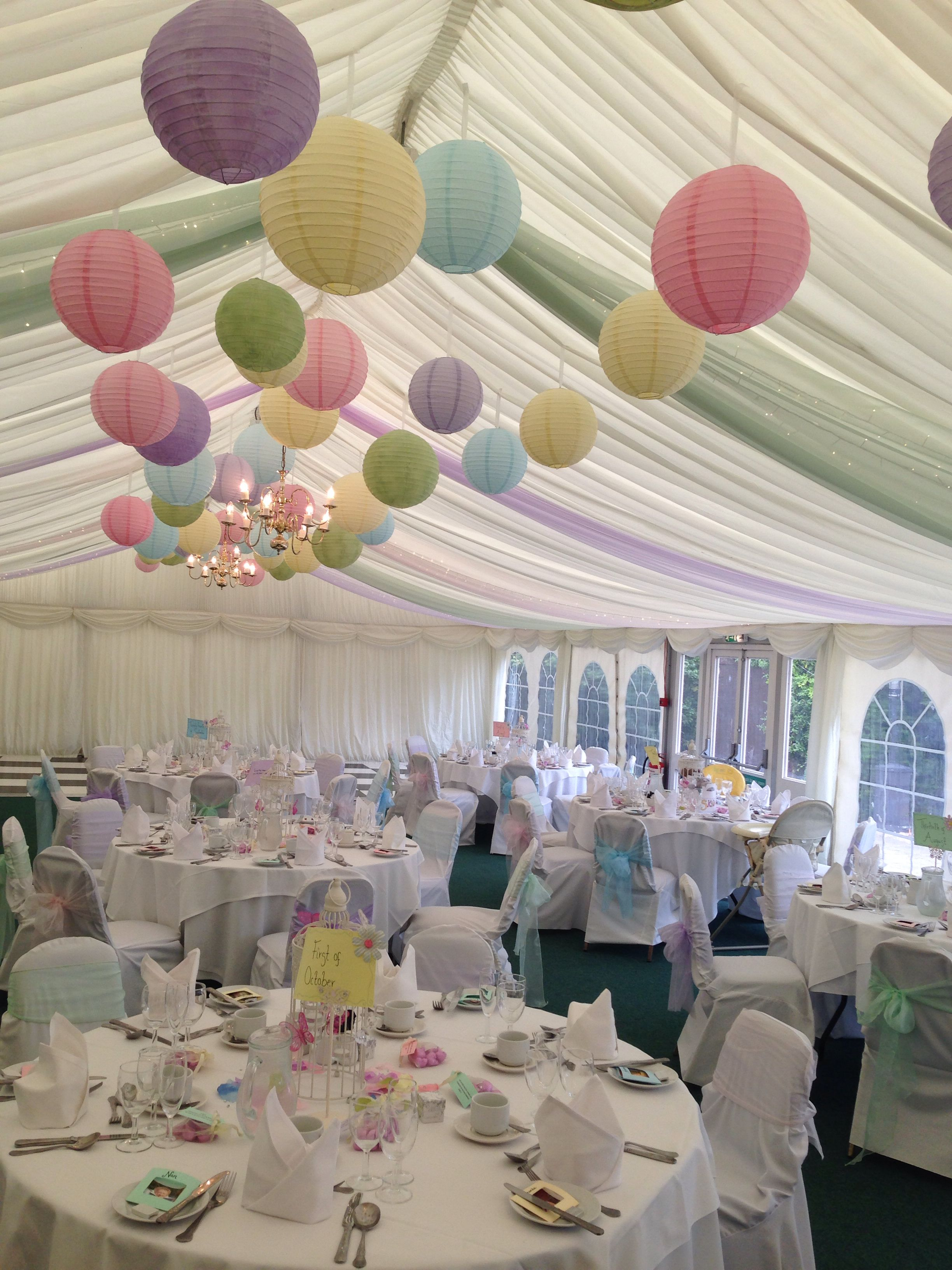 Different Pastel Colours Creating One Amazing Marquee Design Pastal