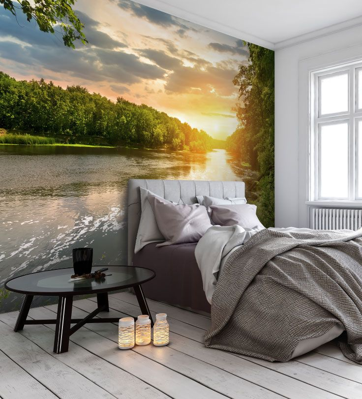Best Create A Cosy And Relaxing Bedroom With A Lake Wall Mural 640 x 480