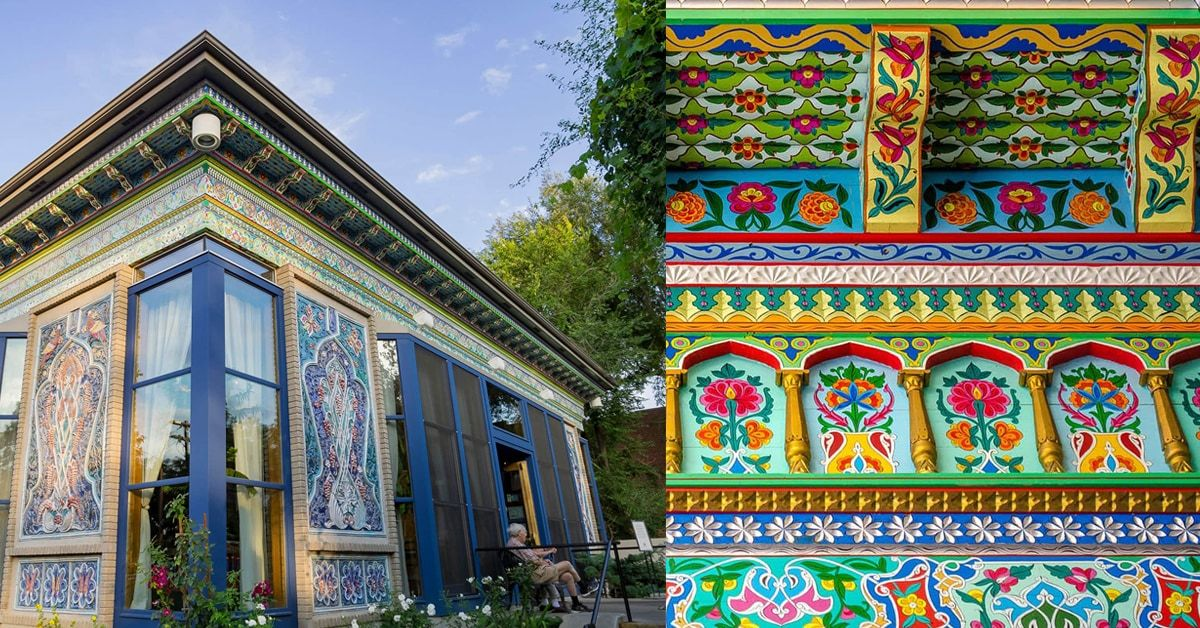 The Boulder Dushanbe Teahouse Hand Crafted In Tajikistan Brings A Piece Of The Himalayas To Colorado In 2020 Bouldering Tea House Dushanbe