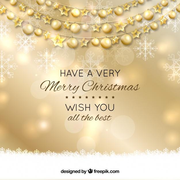 Fondo De Año Nuevo Con Bolas De Navidad Doradas Vector Gratis Fondo De Año Nuevo Bolas De Navidad Navidad Dorada