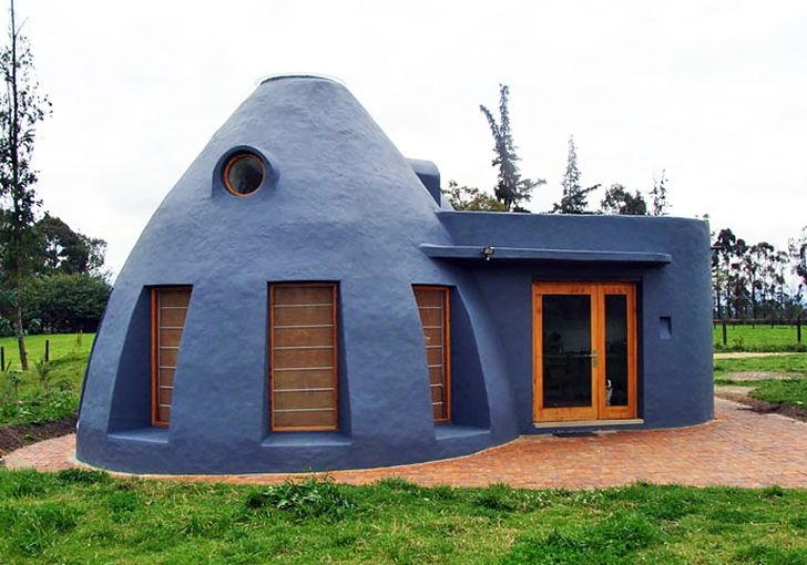 large earthbag house plans. Dome Shaped Earth Bag House Keeps Residents Naturally Cool in Colombia