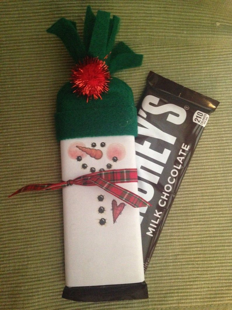 Fully assembled snowmen bars class valentines wrapped