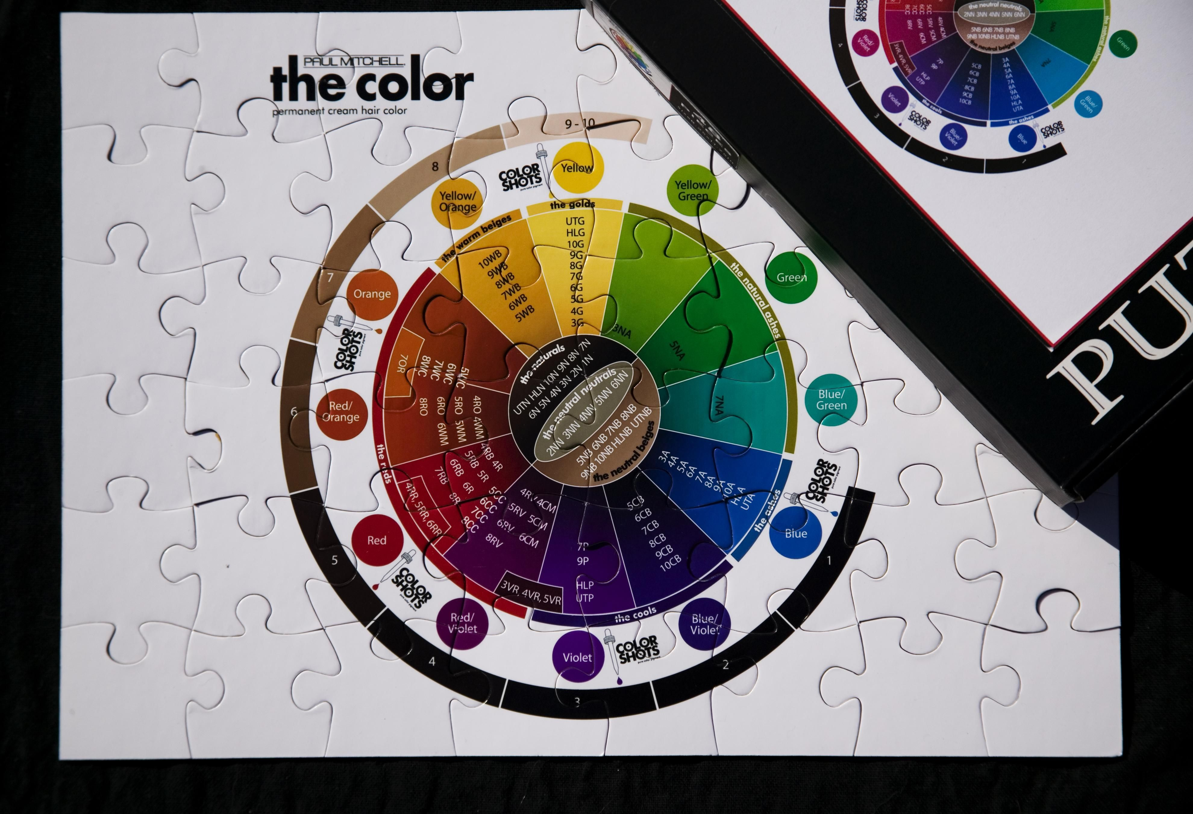 Paul Mitchell Color Chart