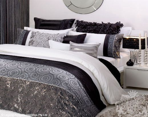 White Black Silver Sequin Bedding Silver Bedding Sequin