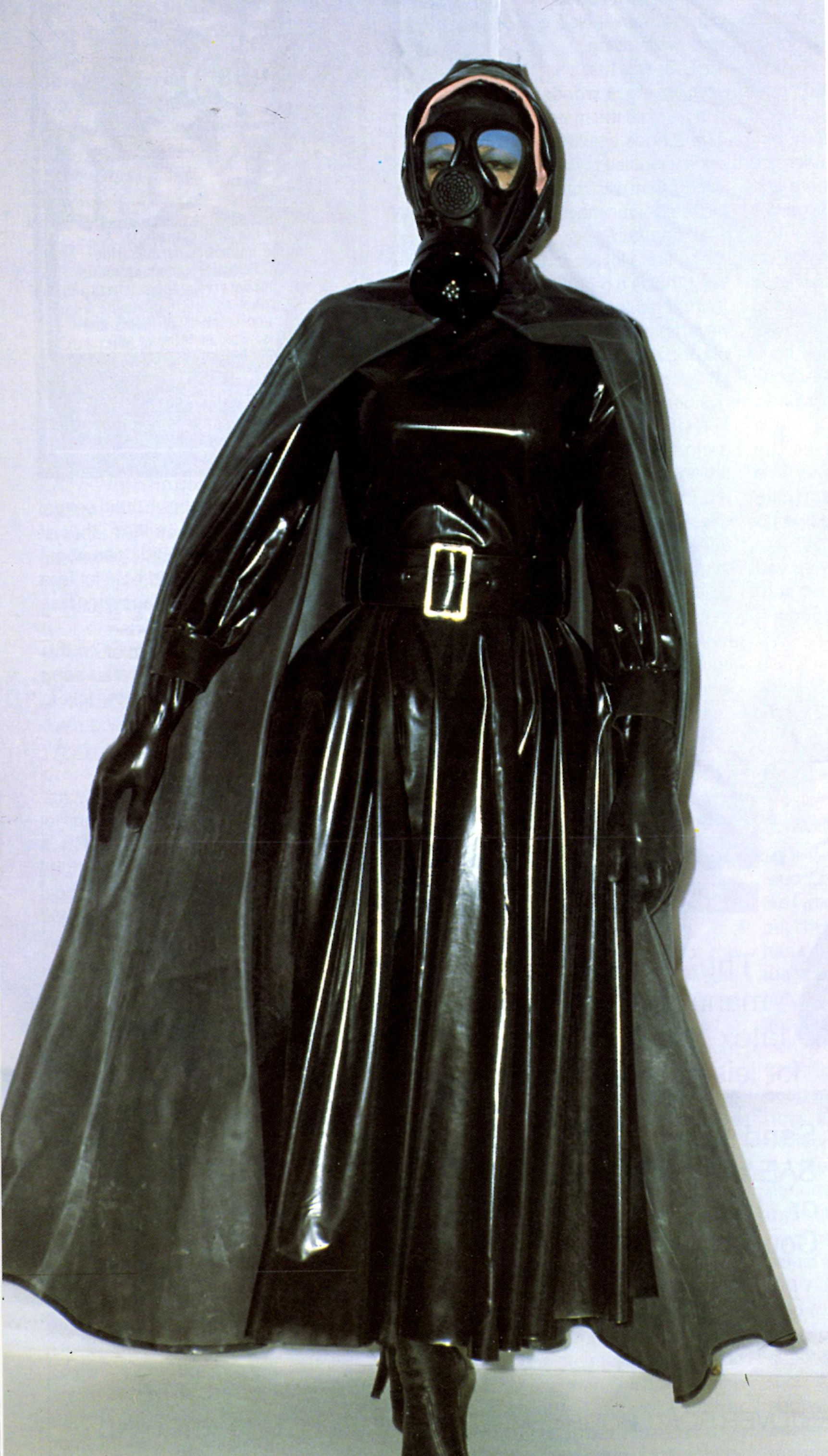 Satin cape dominatrix fetish