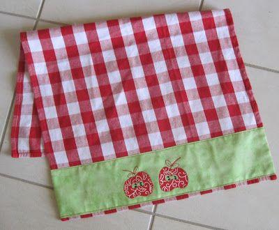 ! Sew WE edredon:! É um mês de material de cozinha e toalha de Jenny chá de maçã é a nossa característica