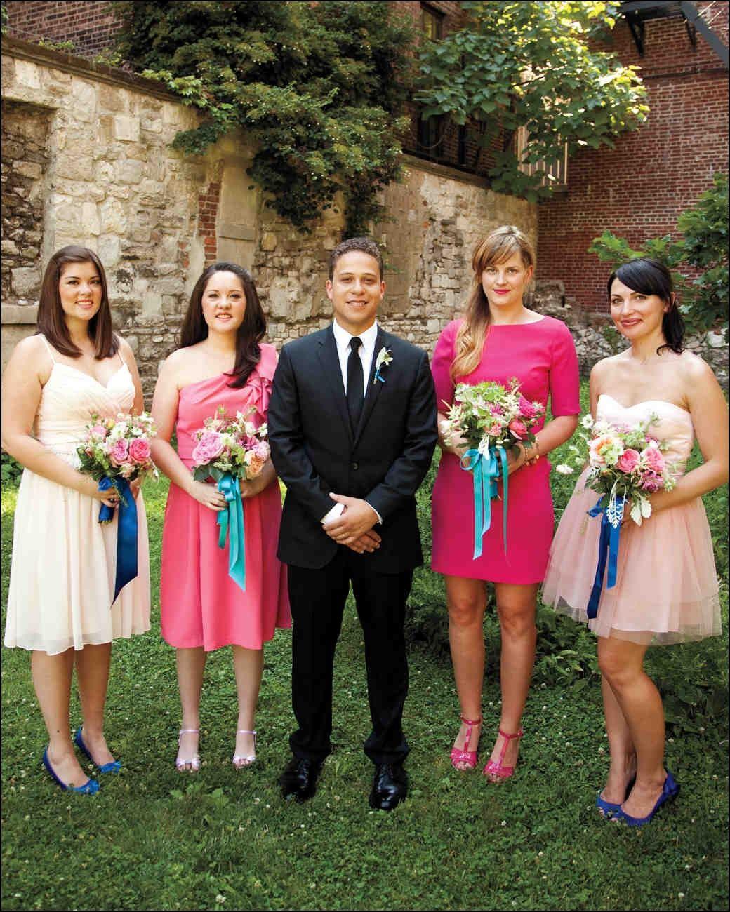Male Bridesmaid Wear Matching Dress
