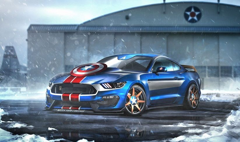 This One Is A No Brainer: Only Americau0027s Most Popular Muscle Car Would Do  For Team USAu0027s Most Patriotic Superhero.