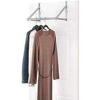 Amazon Com Whitmor Over The Door Closet Rod Home Kitchen Closet Rod Dorm Closet Garment Racks