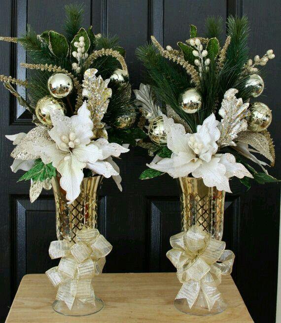 Arreglo floral navide o decoraciones navide as for Arreglos navidenos para mesa