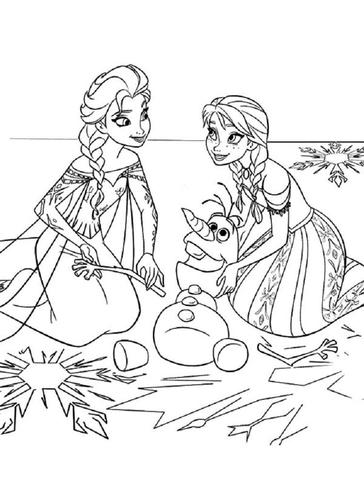 Frozen Coloring Pages Disney Buku Mewarnai Warna Gambar