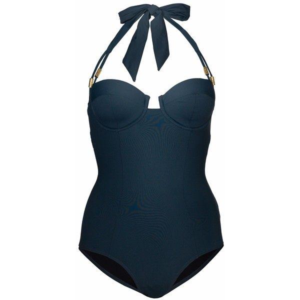 602a7c65d5 Lilliput   Felix - DElphinium Swimsuit Gunflint ( 310) ❤ liked on Polyvore  featuring swimwear