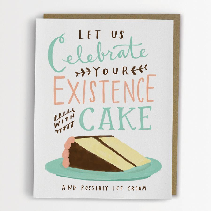 Celebrate with cake birthday card cards pinterest cake