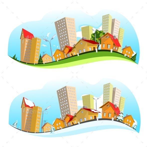 Urban Landscape Illustration Landscape Illustration Urban Landscape Landscape Clipart