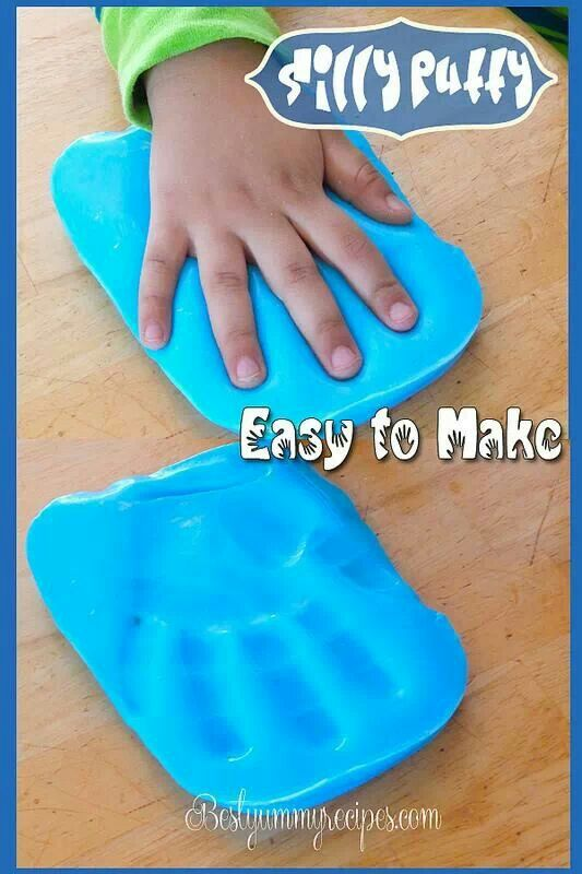 how to make silly putty with just glue and water