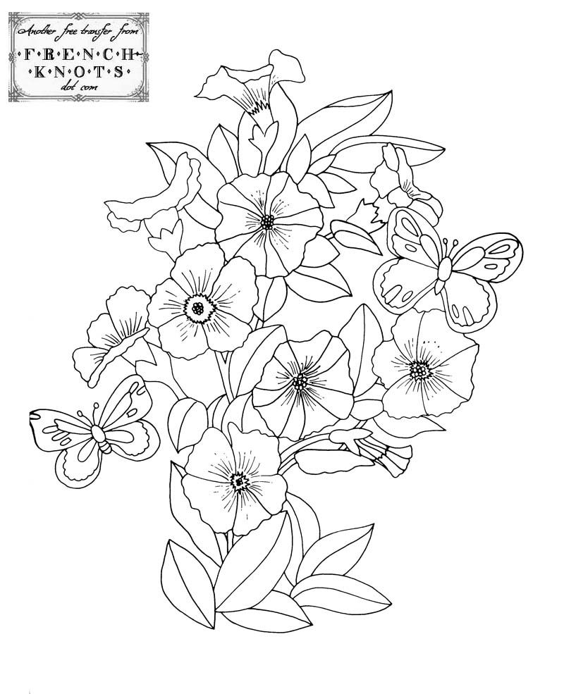 Flowers Nature Embroidery Patterns Embroidery Patterns
