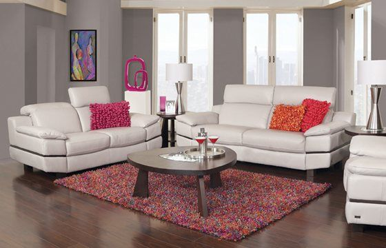 This Stefanie 5 Piece Leather Living Room package consists ...