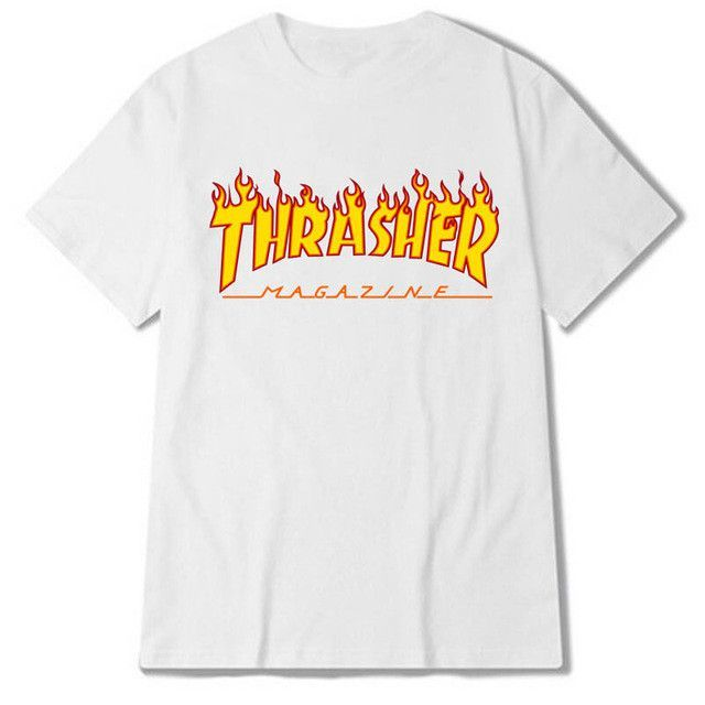 2431e59e5a1f Eqmpowy 2017 thrasher T Shirt Men Women Skateboards tee Short Sleeve Skate T  shirts Tops Hip Hop T shirt Homme Man Trasher