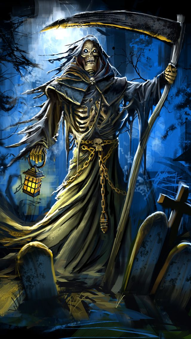 iphone wallpapers background grim reaper fantasy art