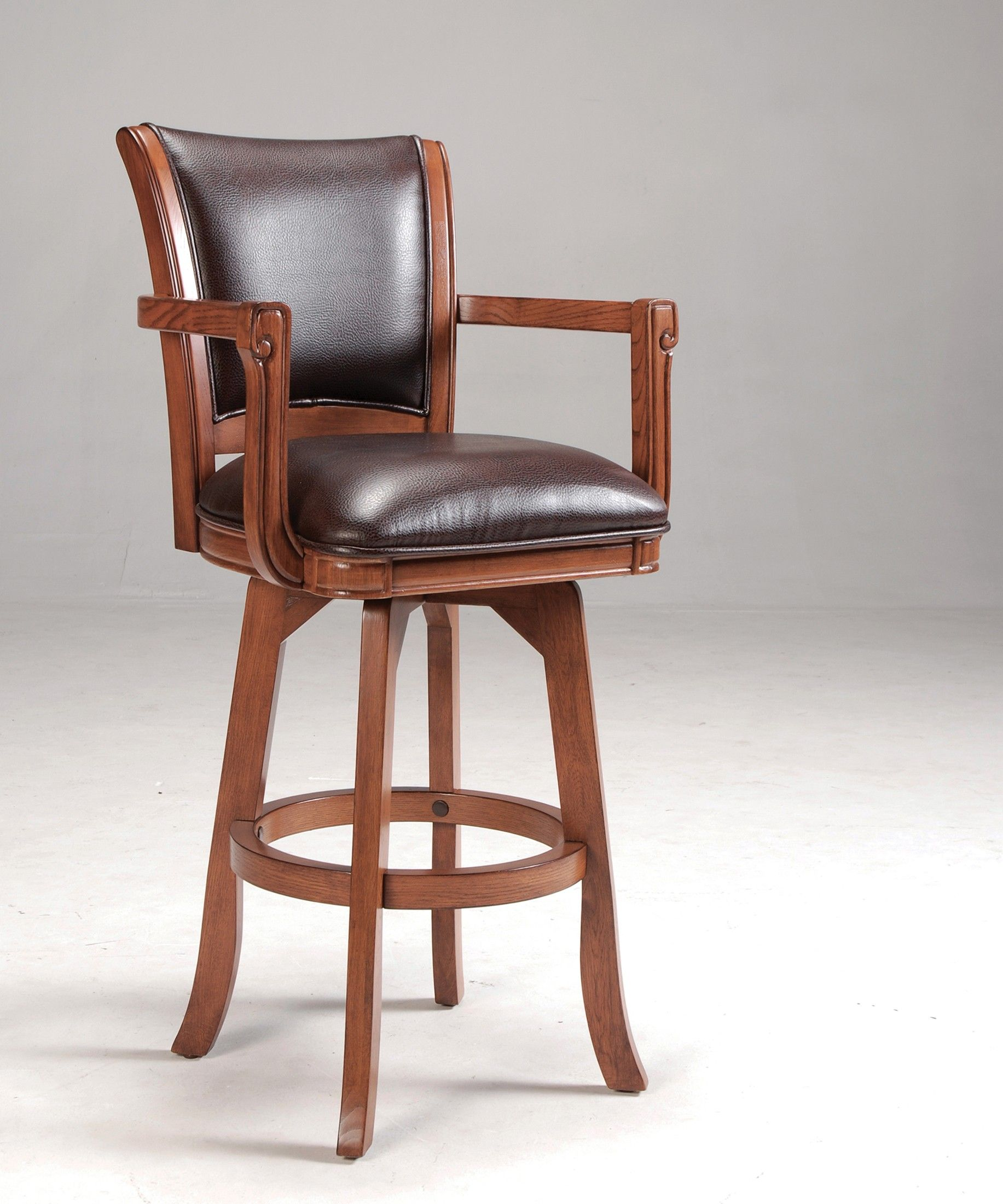 Merveilleux Park View Wood Swivel Bar Stool In Brown Oak By Hillsdale Furniture