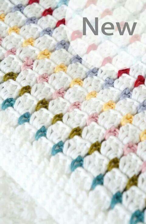 ღ speckled double crochet | Crochet | Pinterest | Manta, Cobija y ...