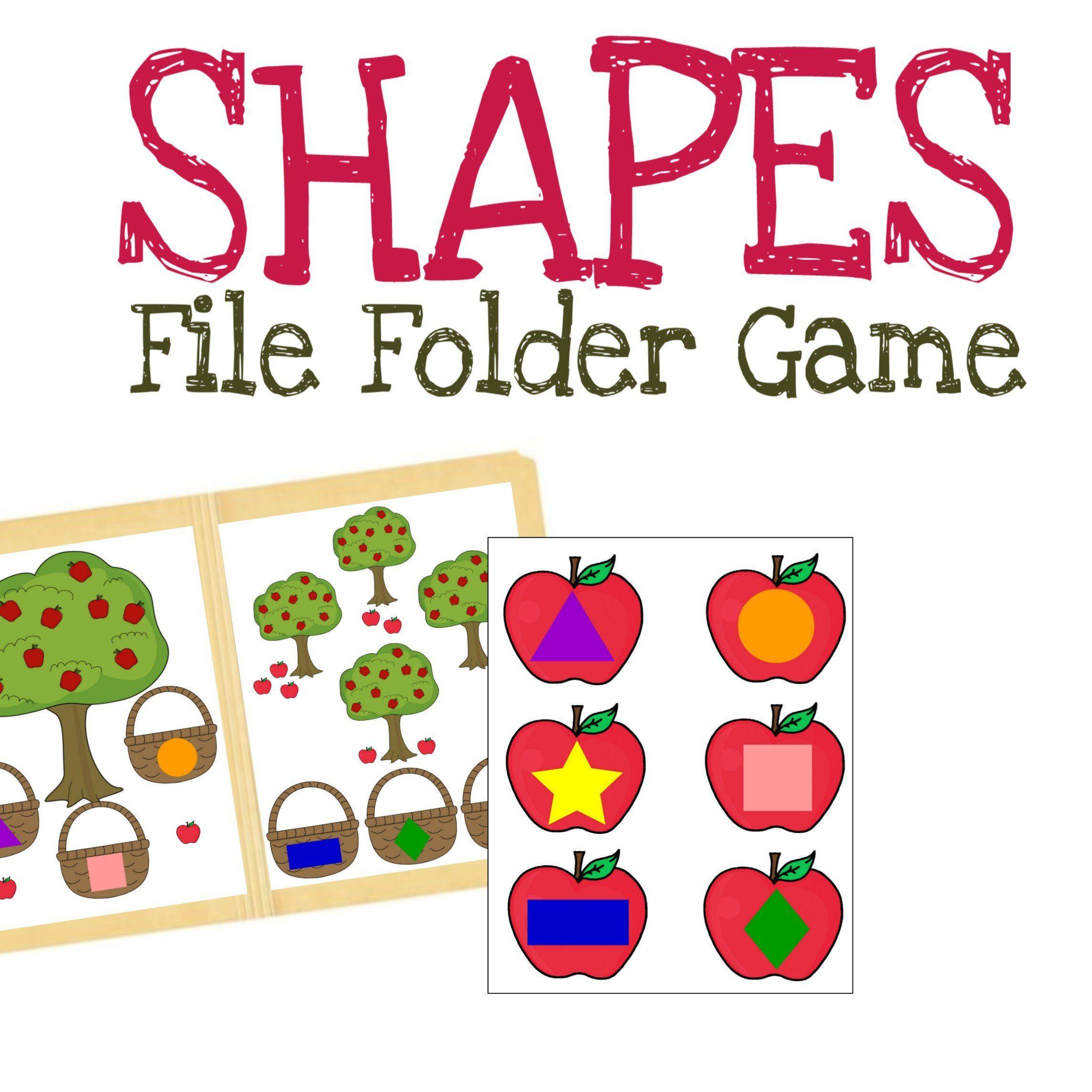 Picking Apples File Folder Game Preschool Activity