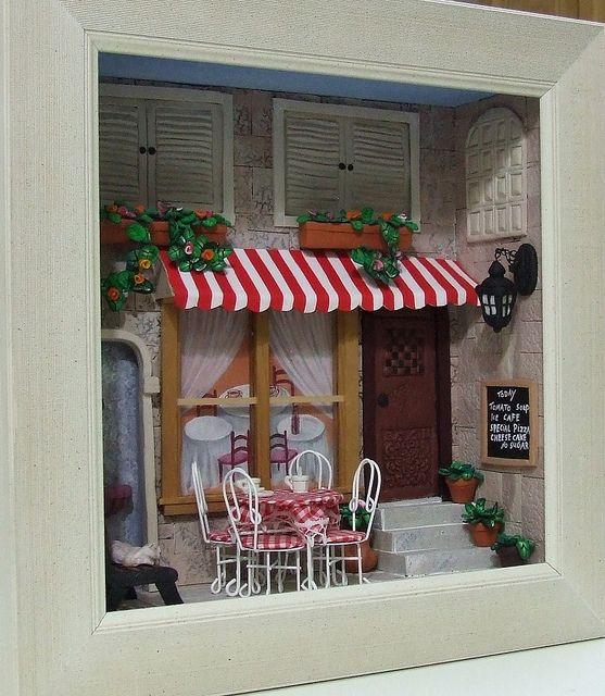 Tova\u0027s miniature cafe scene Miniatures, Cafes and Scene