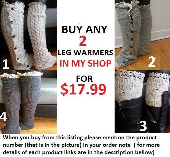 womens leg warmers boot cuffs boot socks boot by MybeautySpells