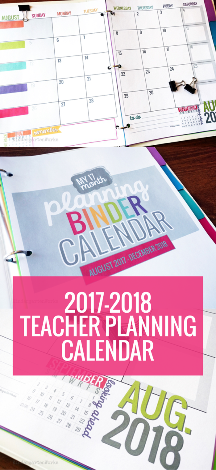 Classroom Calendar Printable : Printable  teacher planning calendar template