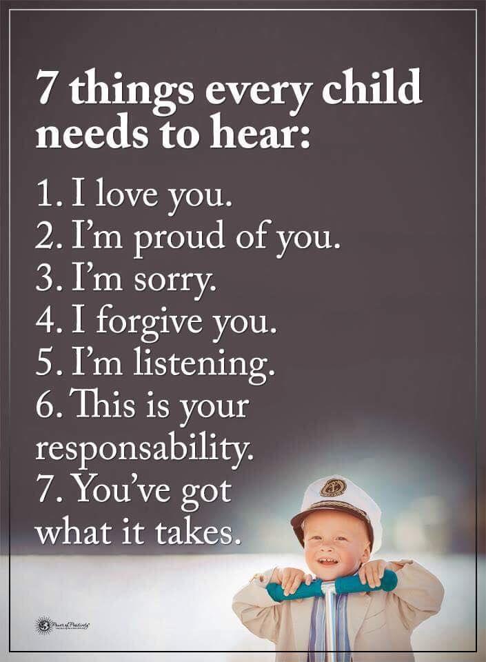 11 Sentences That Will Change Your Child's Life #powerofpositivity #pop #family #life #love # children #kids #responsibility #proud