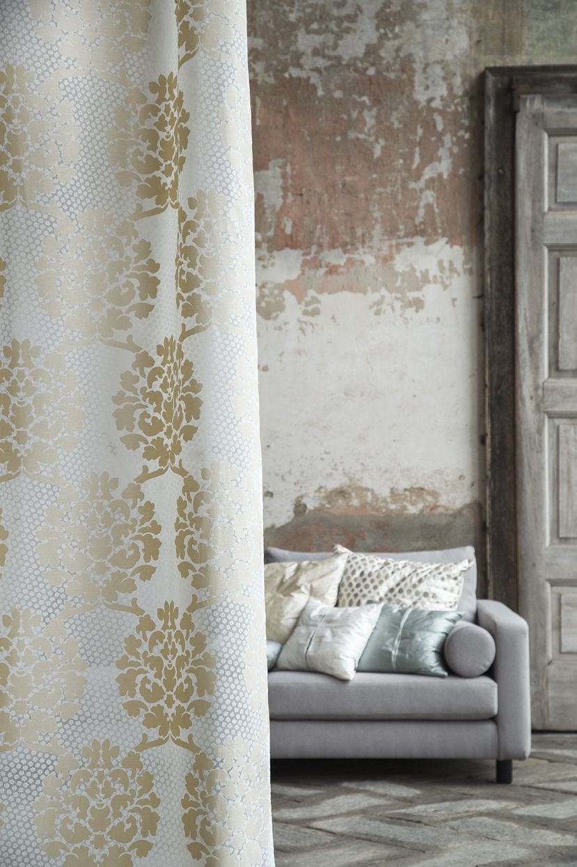 designer home fabrics. Luxury home fabrics and accessories  Christian Fischbacher Drapery Curtain HARMONY