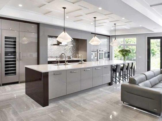 20 Fresh Kitchen Design Inspirations From Pinterest In 2020 Grey Kitchen Designs Contemporary Kitchen Design Kitchen Design Modern Contemporary