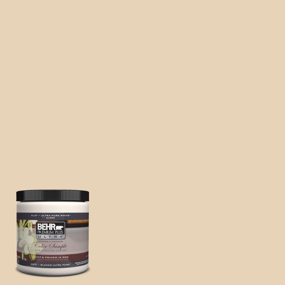 BEHR Premium Plus Ultra 8 oz. #UL150-11 Sand Pearl Interior/Exterior Paint Sample-UL150-11 - The Home Depot