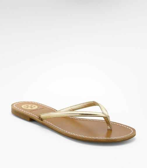 f6c0713fd5b7 simple tory burch gold flip flops - love