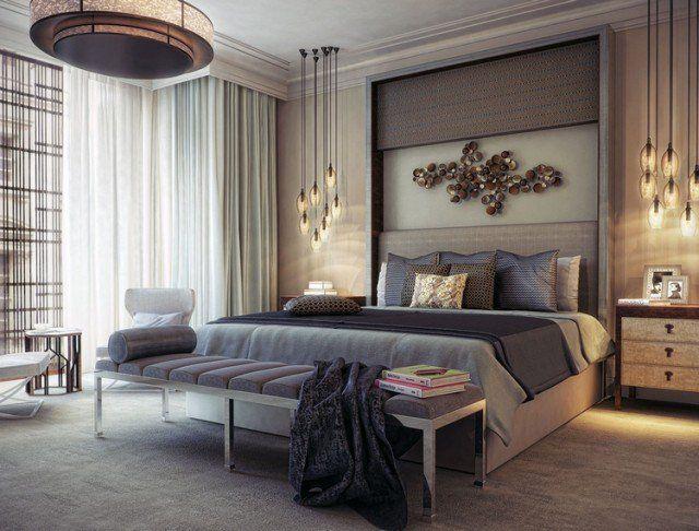 Chambre adulte moderne - idées de design et décoration Pinterest