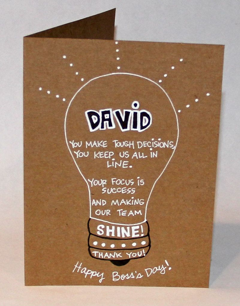 Bright Boss Personalized Bosss Day Card The Paper Hug Factory