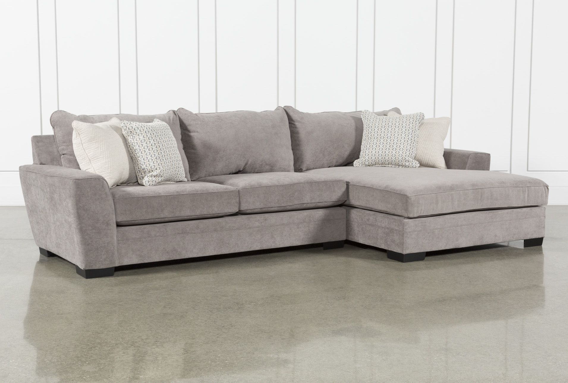 Delano Charcoal 2 Piece Sectional With Right Arm Facing Chaise In